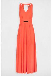Pomarańczowa sukienka Morgan z aplikacjami, na co dzień