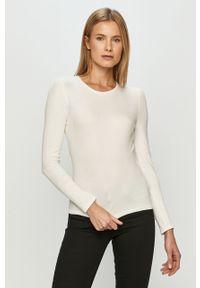 Biały sweter rozpinany Haily's raglanowy rękaw
