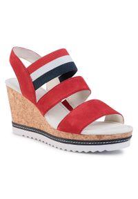 Czerwone sandały Gabor marine