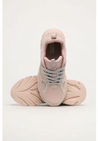 Różowe buty sportowe Big-Star z okrągłym noskiem, z cholewką