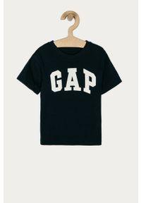 Niebieski t-shirt GAP na co dzień, z nadrukiem