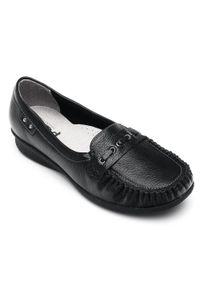 Czarne mokasyny PESCO w kolorowe wzory, eleganckie #5