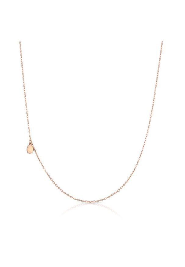 W.KRUK Unikalny Łańcuszek Srebrny - srebro 925 - SDL/LS039R. Materiał: srebrne. Kolor: srebrny. Wzór: aplikacja. Kamień szlachetny: cyrkonia