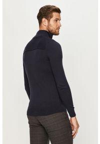 Niebieski sweter rozpinany Tom Tailor Denim casualowy, na co dzień
