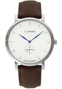 Niebieski zegarek LLARSEN casualowy