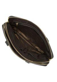 Wittchen - Damska aktówka ze skóry. Kolor: czarny. Materiał: skórzane. Styl: elegancki. Rodzaj torebki: do ręki