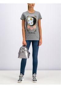 Silvian Heach T-Shirt CVA19387TS Szary Regular Fit. Kolor: szary