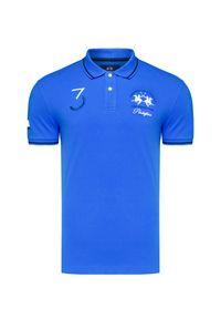 Niebieska koszulka polo La Martina w prążki, polo