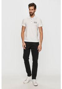 Biała koszulka polo EA7 Emporio Armani na co dzień, casualowa, polo, krótka