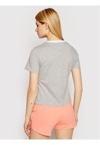 Reebok T-Shirt Linear Logo GN5418 Szary Slim Fit. Kolor: szary