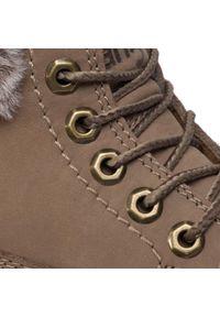 Brązowe buty trekkingowe Wrangler z cholewką
