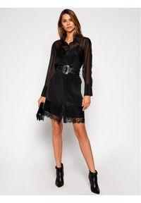 Czarna sukienka Marciano Guess koszulowa