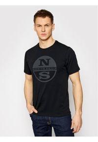 North Sails T-Shirt Graphic 692689 Czarny Regular Fit. Kolor: czarny