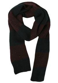 Czerwony szalik Adriano Guinari na zimę, w paski, elegancki