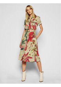 Beżowa sukienka Desigual koszulowa