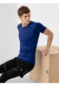 Niebieska koszulka sportowa 4f na fitness i siłownię, raglanowy rękaw
