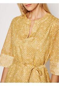 Marella Sukienka codzienna Avorio 32212712 Żółty Regular Fit. Okazja: na co dzień. Kolor: żółty. Typ sukienki: proste. Styl: casual