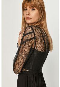 Czarna sukienka Morgan midi, rozkloszowana