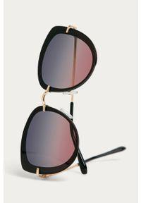 Czarne okulary przeciwsłoneczne Answear Lab
