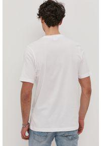 Biały t-shirt adidas Originals casualowy, z nadrukiem