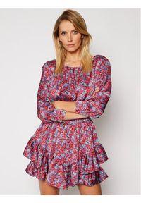 For Love & Lemons Sukienka letnia Shiloh CD2232 Kolorowy Slim Fit. Wzór: kolorowy. Sezon: lato
