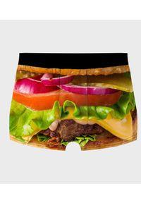 MegaKoszulki - Bokserki męskie fullprint Burger z bliska. Wzór: nadruk