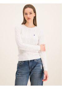 Biały sweter klasyczny Polo Ralph Lauren polo