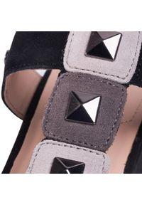Czarne sandały Geox na co dzień, casualowe