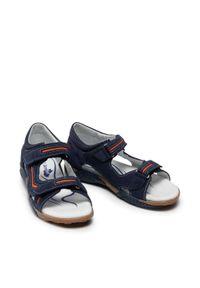 RenBut - Sandały RENBUT - 31-4426 Granat/Pomarańcz. Kolor: niebieski. Materiał: skóra, zamsz. Sezon: lato. Styl: wakacyjny