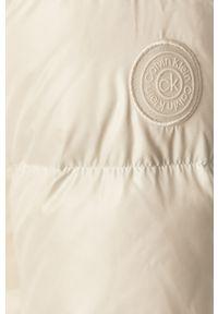 Biała kurtka Calvin Klein na co dzień, casualowa, z kapturem