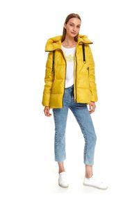 Żółta kurtka TOP SECRET casualowa, na zimę
