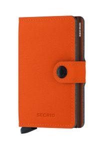 Secrid - Portfel. Kolor: pomarańczowy. Materiał: materiał. Wzór: gładki