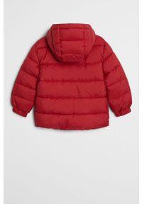 Czerwona kurtka Mango Kids z kapturem