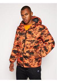 Pomarańczowa kurtka puchowa Armani Exchange
