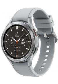 SAMSUNG - Samsung Galaxy Watch4 Classic 46mm Silver. Kolor: srebrny. Styl: militarny