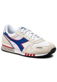 Diadora - Sneakersy DIADORA - Titan 501.177355 01 C5753 White/Blue Eyes. Okazja: na co dzień. Kolor: beżowy. Materiał: skóra, materiał, zamsz. Szerokość cholewki: normalna. Styl: elegancki, casual