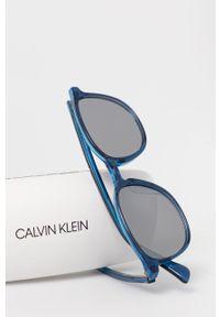 Calvin Klein - Okulary przeciwsłoneczne CK5916S.412. Kształt: owalne. Kolor: niebieski