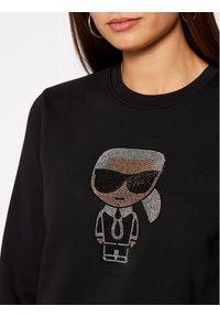 Czarna bluza Karl Lagerfeld z dekoltem karo #5