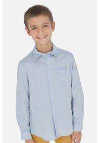 Niebieska koszula Mayoral długa, na co dzień, casualowa