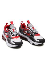 Nike - Buty NIKE - Air Max 270 React (GS) BQ0103 011 Iron Grey/University Red/Black. Okazja: na uczelnię, na spacer. Kolor: szary. Materiał: materiał. Szerokość cholewki: normalna