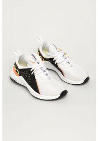 Białe buty sportowe Nike na sznurówki, na obcasie, na średnim obcasie
