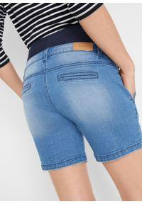"""Szorty dżinsowe ciążowe bonprix niebieski """"stone"""". Kolekcja: moda ciążowa. Kolor: niebieski"""