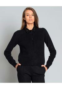 LES COPAINS - Sweter z kaszmiru. Okazja: na co dzień. Kolor: czarny. Materiał: kaszmir. Długość rękawa: długi rękaw. Długość: długie. Styl: elegancki, casual