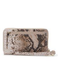 Wittchen - Damski portfel ze skóry lizard duży. Kolor: wielokolorowy. Materiał: skóra. Wzór: motyw zwierzęcy, aplikacja