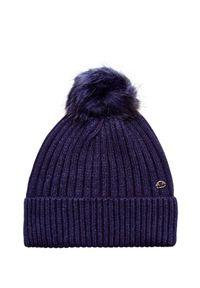 Niebieska czapka Jail Jam z aplikacjami, glamour