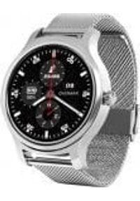 Srebrny zegarek Overmax smartwatch