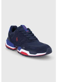 Niebieskie sneakersy Polo Ralph Lauren z cholewką, na sznurówki