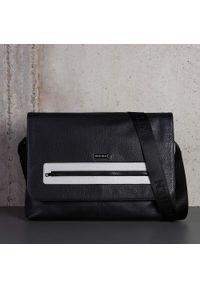 Szara torba na laptopa Wittchen w kolorowe wzory, elegancka