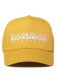 Żółta czapka z daszkiem Napapijri