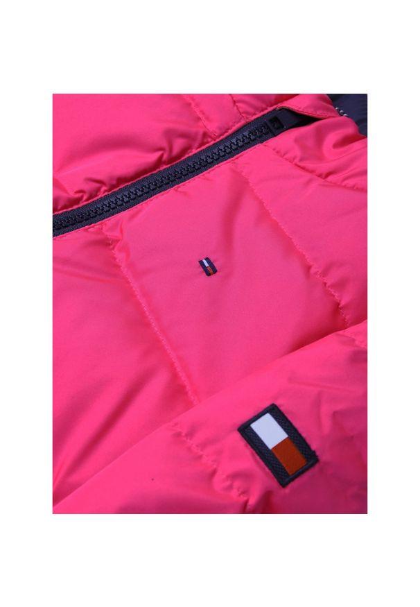 Różowa kurtka puchowa TOMMY HILFIGER
